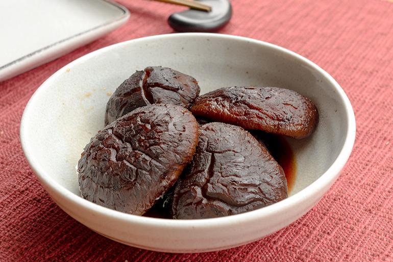 1.原木乾燥しいたけの甘煮