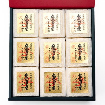 魚沼産コシヒカリ 2合9パック(無洗米)