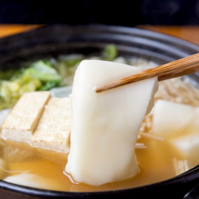 鍋に入れても煮崩れせず、コシ・風味を残します