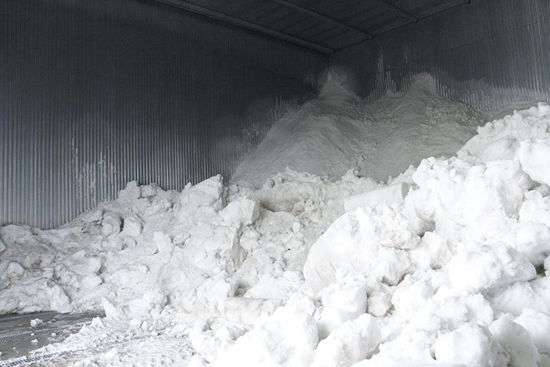 新米を鮮度そのままに「雪室貯蔵」