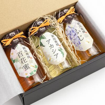 新潟県産はちみつ 5種から選べる3本入り