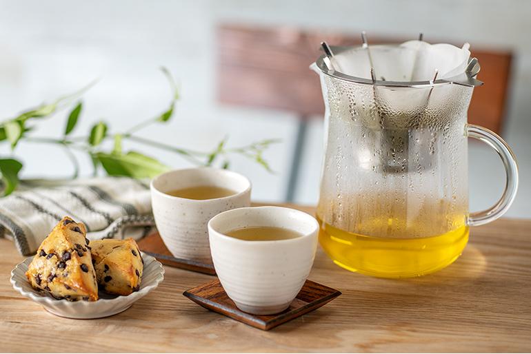粉茶を使って「緑茶」にも使えます