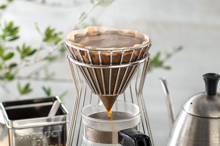 市販のフィルターで本格的なコーヒーが抽出できます