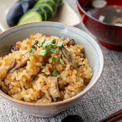 椎茸が主役の炊き込みご飯