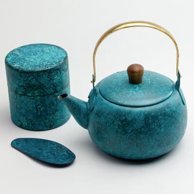 急須・茶筒(M)・茶みセット