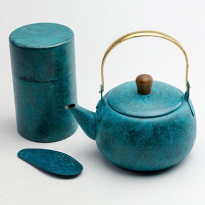 急須・茶筒(L)・茶みセット