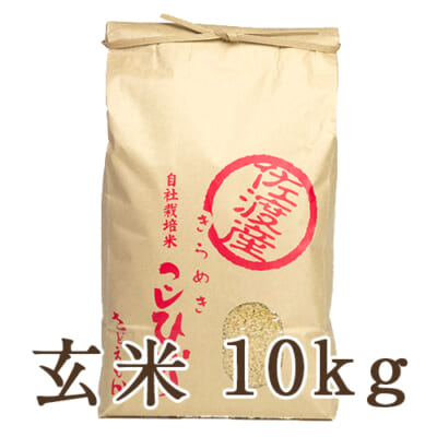 佐渡産コシヒカリ 玄米10kg