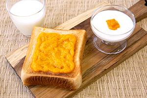 1.【朝食】ヨーグルト添え&トースト