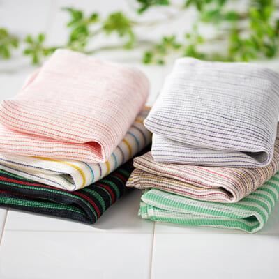洗濯可能で乾きやすく、長く使えるボディタオルです