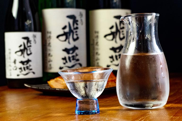 燕市では数少ない地酒「越乃飛燕」