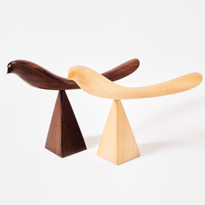 素材が選べる 親鳥の靴べら(台セット)