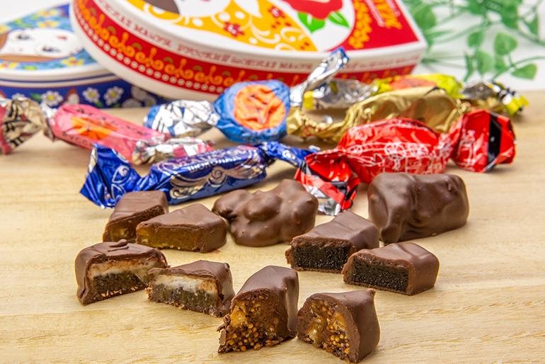 中の具材が楽しいロシアチョコレート