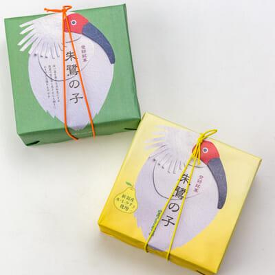 新潟銘菓 朱鷺の子(黄身あん&ル・レクチェ)各1箱