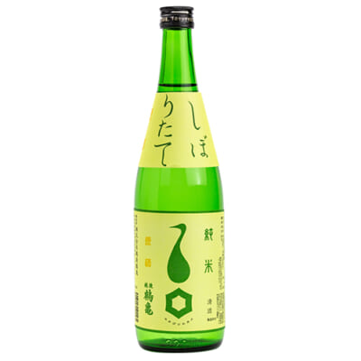 越後鶴亀 しぼりたて 純米 原酒 720ml(4合)