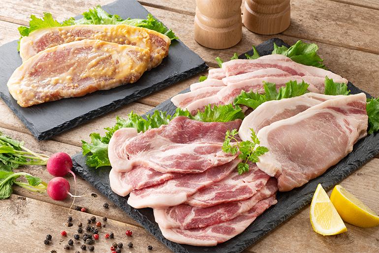 新潟県産の豚肉を雪室で熟成