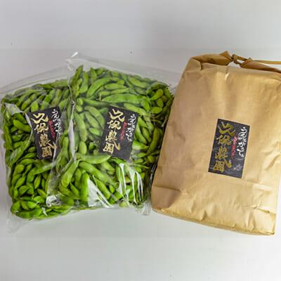 久保農園のコシヒカリと枝豆セット
