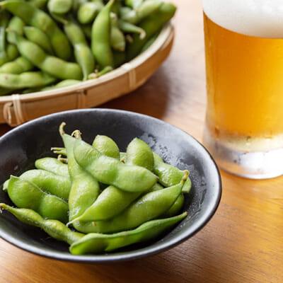 ざるいっぱい食べたい「旬の枝豆」
