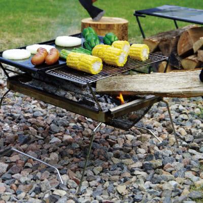 付属品があれば、網焼き・鉄板焼きも可能