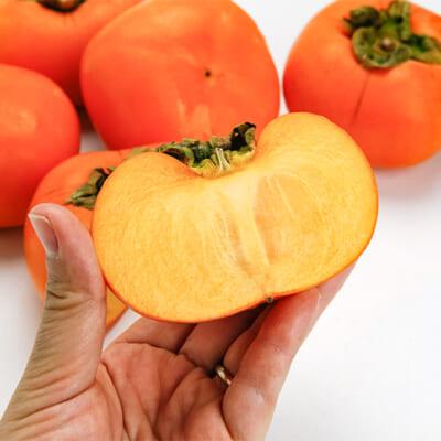種なしで食べやすい「八珍柿」