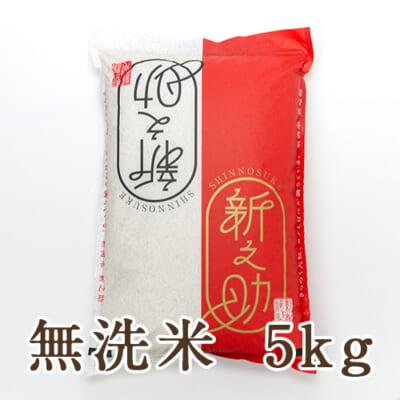 新潟産 新之助 無洗米5kg