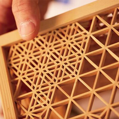 飛鳥時代から伝わる木工の伝統技法「組子細工」