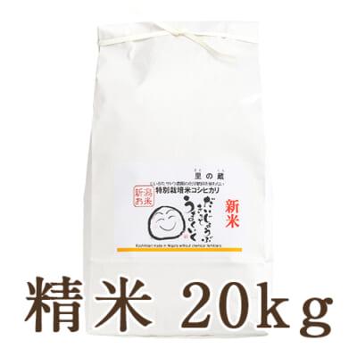 新潟県産コシヒカリ(特別栽培・従来品種)精米20kg