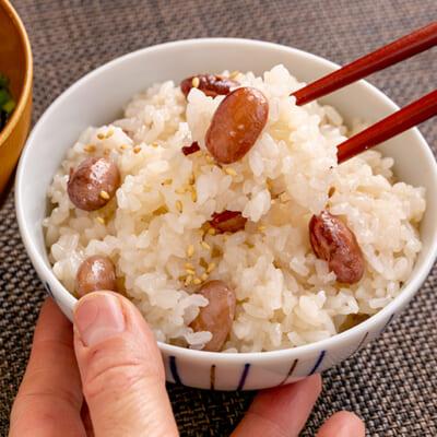 もっちり食感と、金時豆のホクホク感が格別