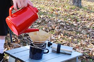 2.お湯を沸かしてコーヒーを飲む