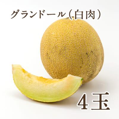 新潟県産メロン グランドール(白肉)4玉