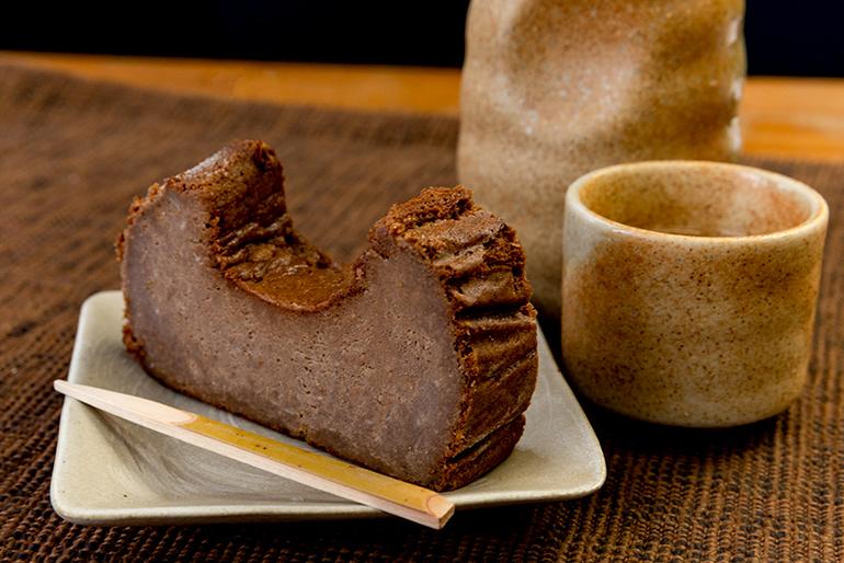 日本酒の風味が広がるガトーショコラ