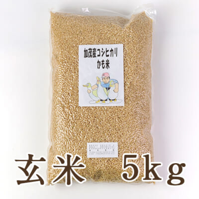 新潟産コシヒカリ「かも米」(従来品種)玄米5kg