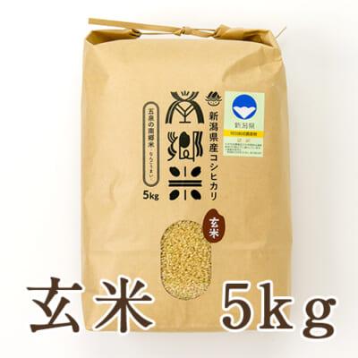 新潟県産コシヒカリ「南郷米」玄米5kg
