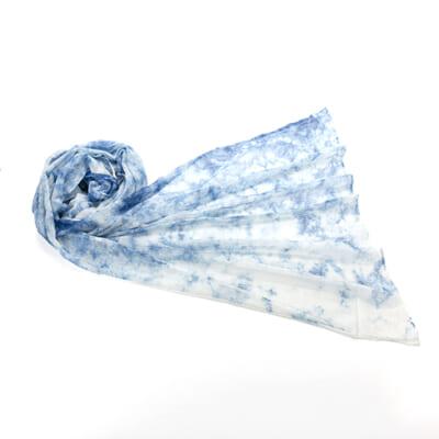 天然藍染ストール 絡み織 むらくも