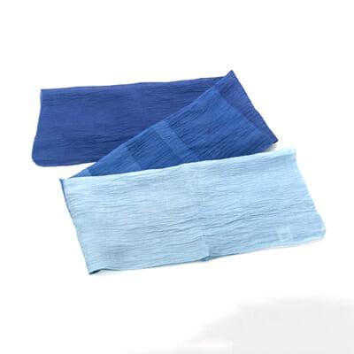天然藍染ストール 小千谷縮 彩り