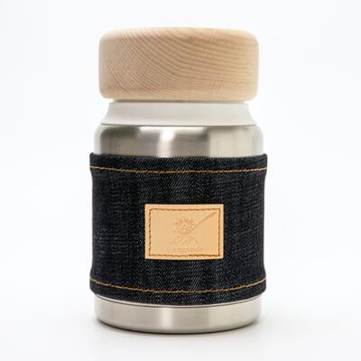 コンパクトアイスクリームメーカー「ice capsule」デニム製スリーブ付き