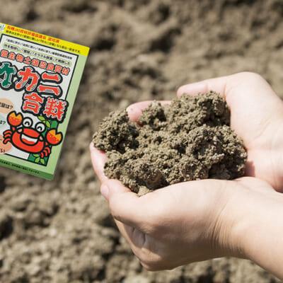 微生物土壌改良材「竹カニ合戦」を使った土づくり