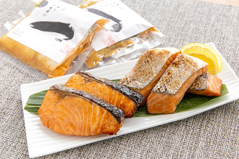 関川村の鮮魚店が手掛ける「鮭の味噌漬け」