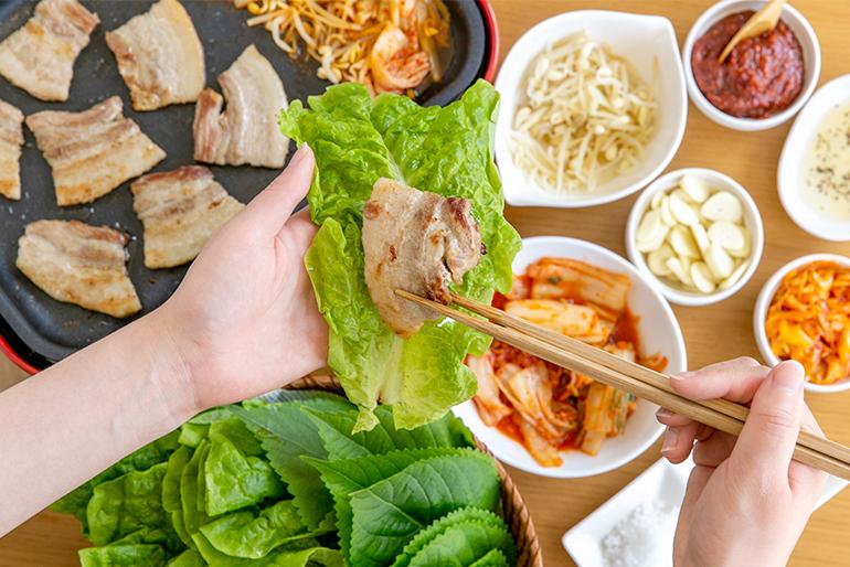 本格的な韓国料理を楽しめるコースセット