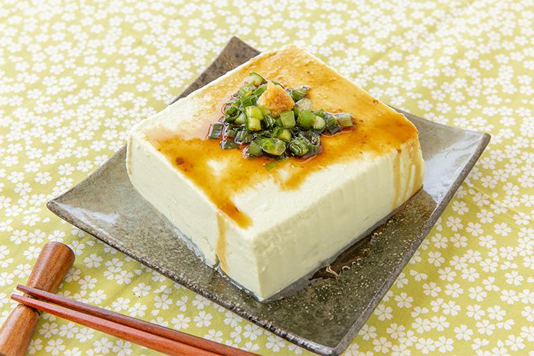 青豆豆腐は、まず「冷奴」でどうぞ!