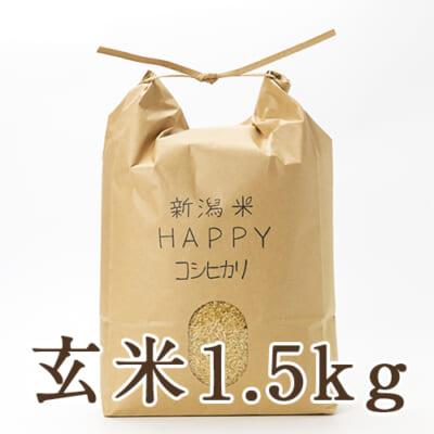 新潟県産 新潟米HAPPYコシヒカリ 玄米1.5kg