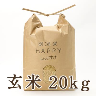 新潟県産 新潟米HAPPY新之助 玄米20kg