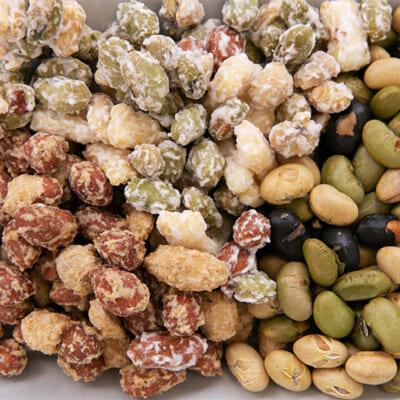 老舗豆菓子店が、こだわりの大豆と製法で製造!