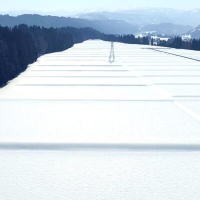 潤沢な水をもたらす積雪