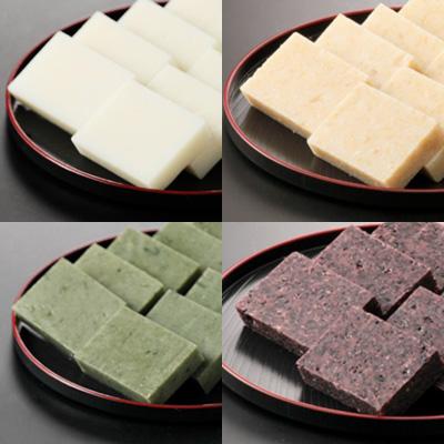 魚沼産こがねもち米の杵つき餅(4種)