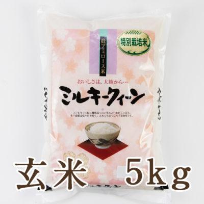 新潟産ミルキークイーン(特別栽培米)玄米5kg