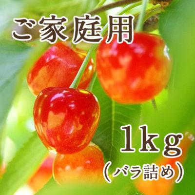 佐藤錦 ご家庭用バラ詰め 1kg