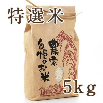 魚沼津南産コシヒカリ 特選米 精米 5kg