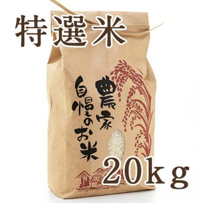 魚沼津南産コシヒカリ 特選米 精米 20kg