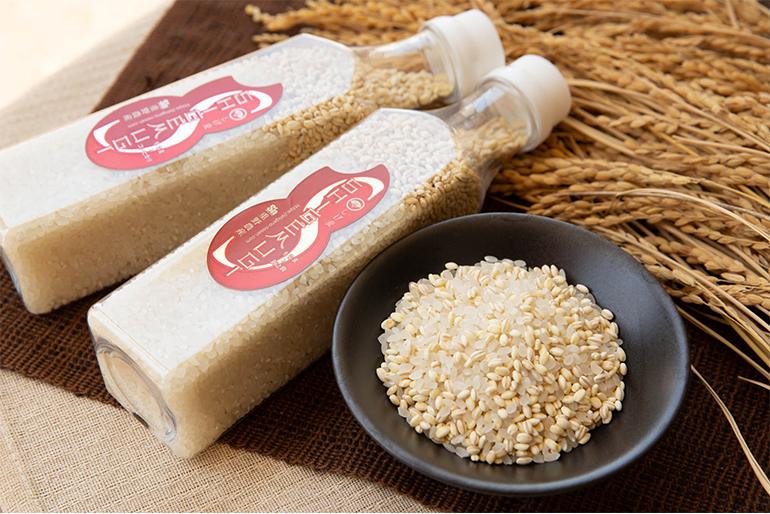 重野農産の自慢の米と「もち麦」をブレンド