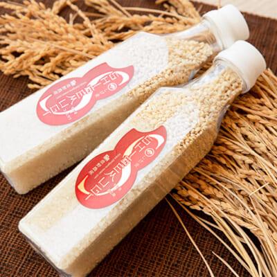 お米の種類はコシヒカリと新之助をご用意